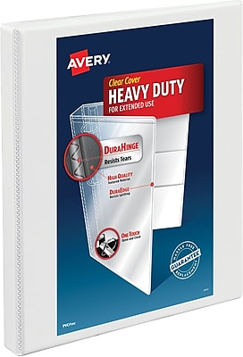 Avery Heavy-Duty Nonstick View Binder, 1/2