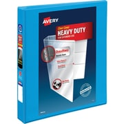 "Avery® Heavy-Duty Nonstick View Binder with 1"" Slant Rings, Light Blue"