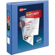 "Avery Heavy-Duty View Binder, 1-1/2"" One Touch Rings, 400 Sheet Capacity, DuraHinge, Periwinkle (17553)"