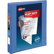 "Avery Heavy-Duty View Binder with 1"" One Touch EZD Rings, Periwinkle (17582)"