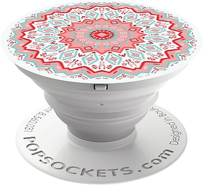 Popsockets: Expanding Stand & Grip for Smartphone & Tablet-Aztec Mandala Red