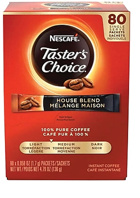 Nescafe® Taster's Choice® Soluble Coffee House Blend, .07 Oz., 80 Packets (NES15782)