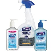 PURELL® SOLUTION™ Breakroom Kit with 8 Oz. Hand Sanitizer, 32 Oz. Surface Spray and 12 Oz. HEALTHY SOAP®