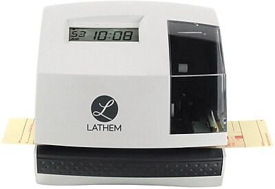 Lathem Automatic Electronic Time Clock and Document Stamp (100E)