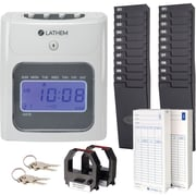 Lathem Unlimited Number of Employees Digital Top-Feed Time Clock Starter Bundle (400E-KIT)