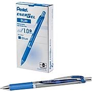 Pentel EnerGel RTX Gel Pens, Bold Point, Blue Ink, Dozen (BL80-C)