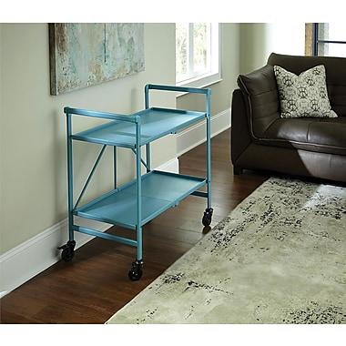 Teal Outdoor Folding Serving Cart