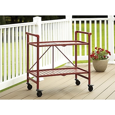 Red Outdoor Folding Serving Cart