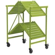 Green Outdoor Folding Serving Cart