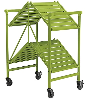 Green Outdoor Folding Serving Cart