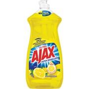 Ajax Super Degreaser Dish Soap, Lemon, 28 Oz.
