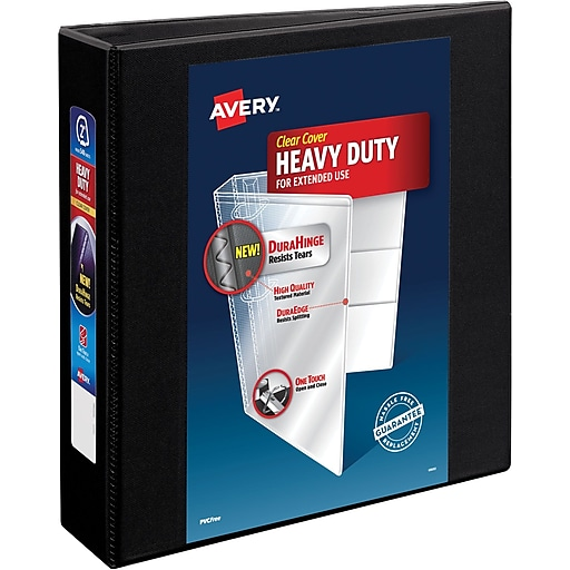 avery heavy duty 2 inch d 3 ring view binder black 79 692 staples