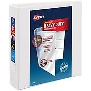 """Avery DuraHinge Heavy Duty 2"""" 3-Ring View Binder, White (79792)"""