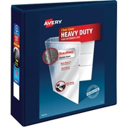 "Avery Heavy-Duty View Binder, 3"" One Touch Rings, 670 Sheet Capacity, DuraHinge, Navy Blue (79803)"