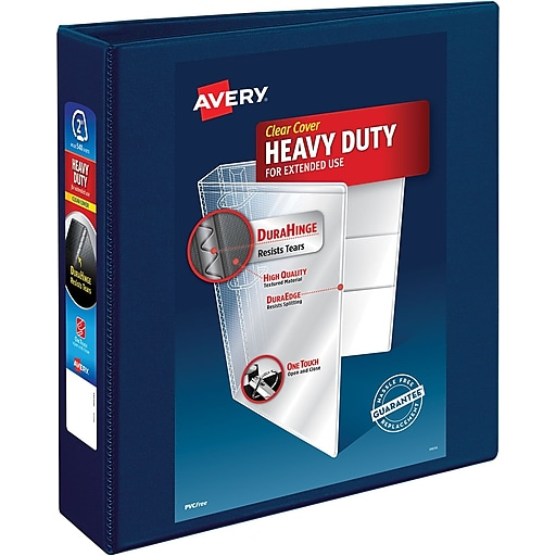 avery heavy duty 2 inch d 3 ring view binder navy blue 79802