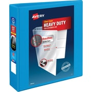 "Avery® Heavy-Duty Nonstick View Binder with 2"" Slant Rings, Light Blue"