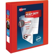 """2"""" Avery® Heavy-Duty View Binders with One Touch™ EZD® Rings, Red"""