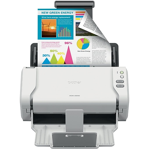 Brother ADS-2200 Desktop Scanner, Black