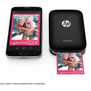 HP Sprocket X7N08A Portable Photo Printer, Black
