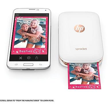 HP Sprocket X7N07A Portable Photo Printer, White
