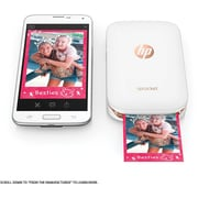 HP Sprocket X7N07A Portable Photo Printer, White