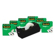 "Scotch® Magic™ Tape Refill 810, 3/4"" x 1000"" with C38 Desktop Dispenser, 6 Rolls Tape, 1 Dispenser, 1"" Core (MMM810K6C38)"