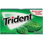 Trident® Chewing Gum, Spearmint, 12 Packs/Box (MOZ01106/61534)