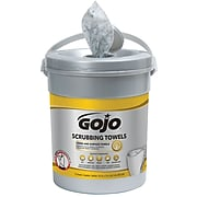 """Gojo® Scrubbing Towels, 10.5""""W x 12.25""""L, 72 Wipes/Canister, 6/Count (6396-06)"""