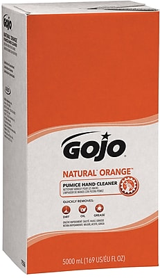 GOJO PRO 5000™ Natural Orange Pumice Hand Cleaner Refill, Orange Citrus, 5000 ml, 2/Case