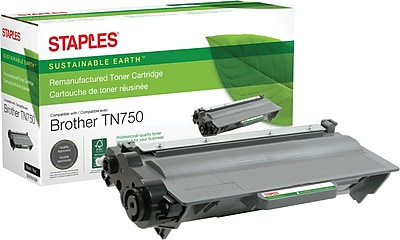 Staples® Remanufactured Laser Toner Cartridge, Brother TN750 (TN-750), Black, High Yield