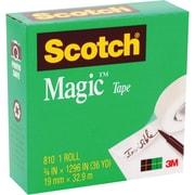 "Scotch® Magic™ Tape 810, 3/4"" x 27 yds, 1"" Core"