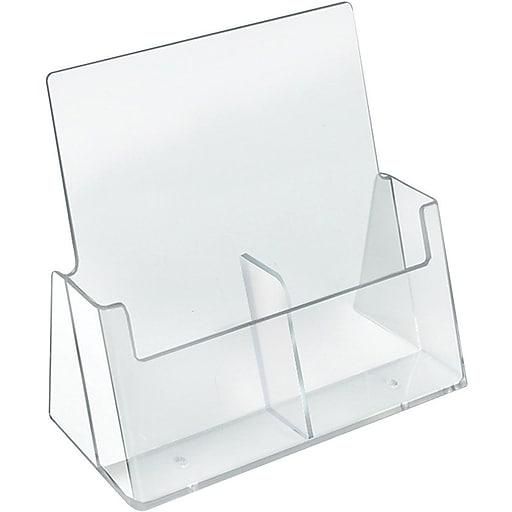 Azar Displays Acrylic Brochure Holder, 2/PK (252386)