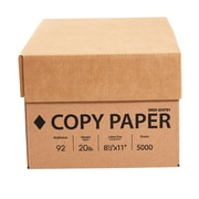 "Copy Paper, 20 Lb., 92 Bright, 8 1/2"" x 11"", White, 10-Ream Case (324791)"