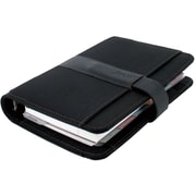 "2018 Filofax® Fusion 7-1/2"" x 5-1/2"", Personal Weekly Organizer, Microfiber and Leather, Black (C022579)"