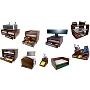 Victor® Wood Desk Accessories, Mocha Brown