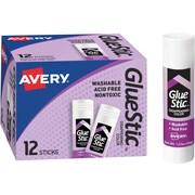 Avery Glue Stic, Purple, 1.27 oz.