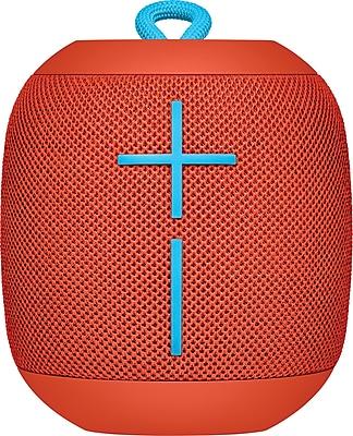Logitech Ultimate Ears WONDERBOOM Super-Portable Waterproof Bluetooth Speaker, Red