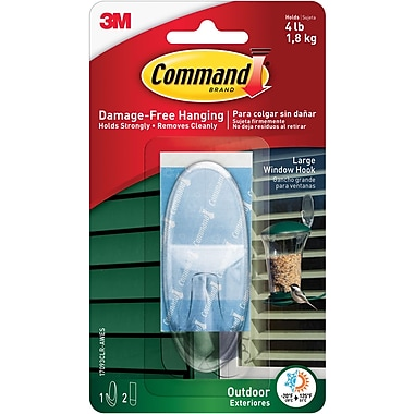 Command™ Clear Outdoor Large Window Hook