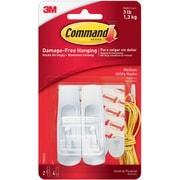 Command™ Medium Utility Hooks, White, 2/Pack (17001ES)
