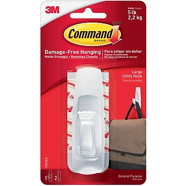 Command™ Large Utility Hook, White, Each (17003-ES)