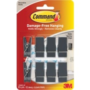 "3M Command™ Slate Spring Clip, Small, 3/4"" Width"