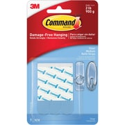 Command™ Clear Medium Refill Strips, Clear, 9/Pack