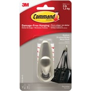 Command™ Medium Forever Classic Hook, Brushed Nickel