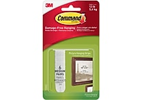 Command™ Medium Picture Hanging Strips, White, 6/pack