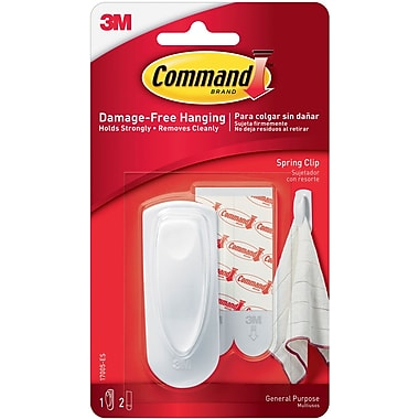 Command™ Spring Clip, White