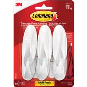 Command™ Medium Designer Hooks Value Pack, White, 6/Pack