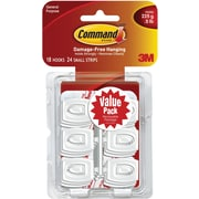 Command™ Mini Hooks Value Pack, White, 18/Pack