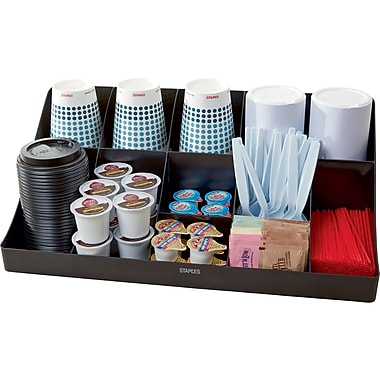 Staples 11 Compartment Coffee Station Organizer Comorgblk