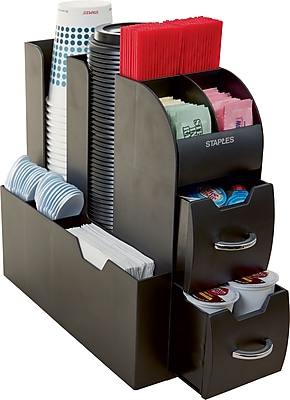 Staples Vertical Coffee Station Organizer (CAD01BLK)