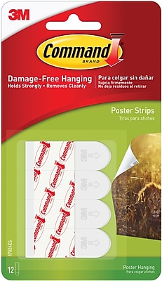 Command Poster Strips White 12Pack Staples